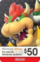 Nintendo $50 Card